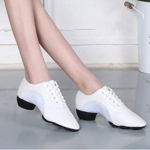Image 3 - Bottom scarpe latine uomo tela sport scarpe da ballo neutre donna Oxford tessuto scarpe da ginnastica da ballo latino scarpe Oxford misura grande