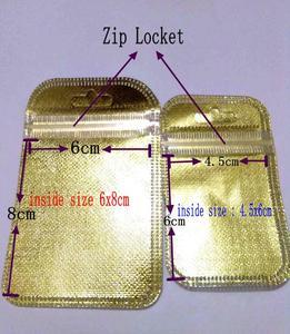 200 sztuk/partia złota torba foliowa słodkie torby na prezenty wielu rozmiar opakowania biżuterii torby ślubne hurtowych