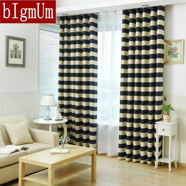 Streifen Blackout Vorhang Mediterranen Stil Für Schlafzimmer/Wohnzimmer Rot  Grün Navy Streifen Fenster Behandlung Panel