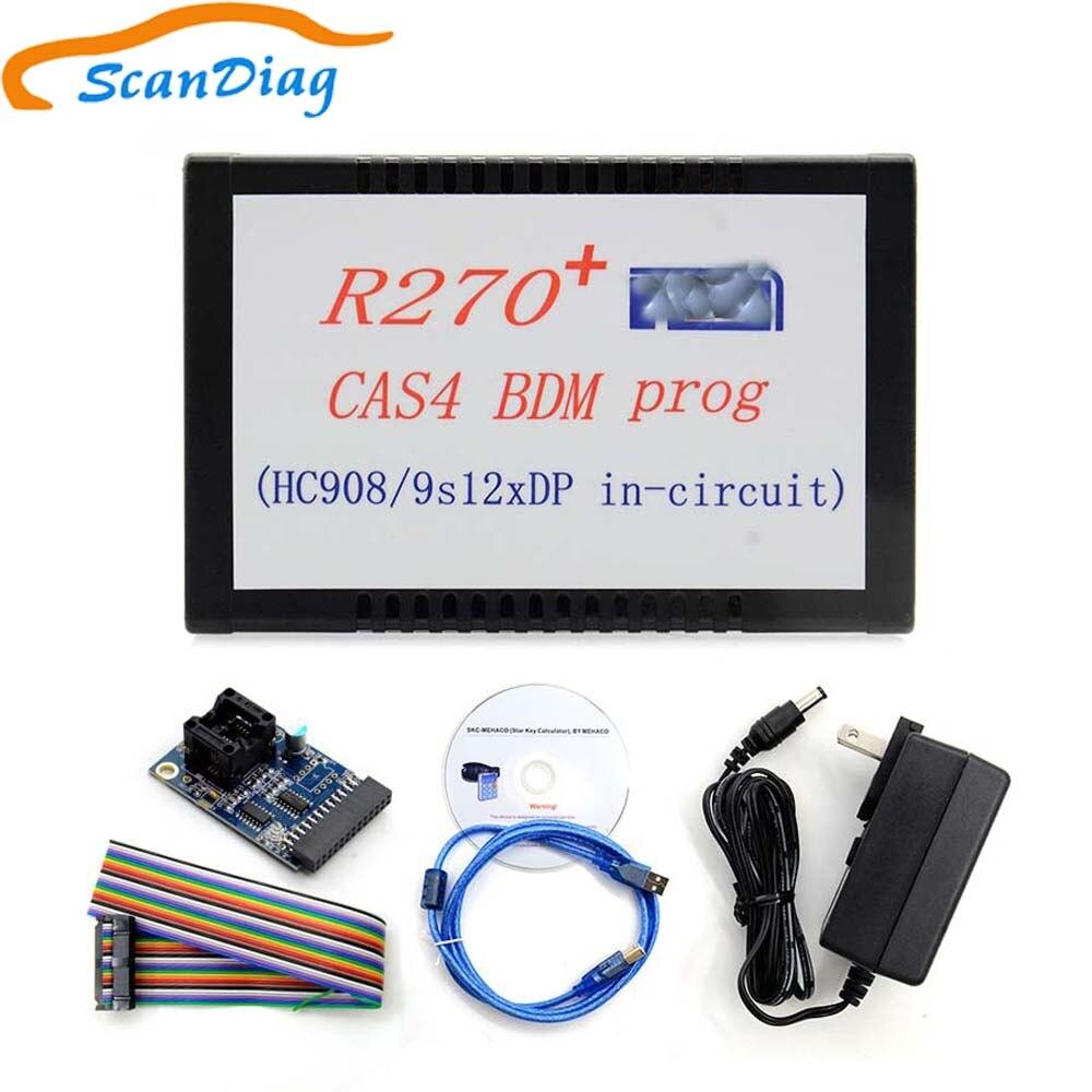Programmeur R270 + V1.20 BDM pour BMW CAS4 Support d'outil de Correction d'odomètre pour la nouvelle série 2009 7 (F01/F02) odomètre CAS4