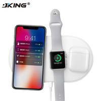 JKING QI Wireless Charger Fast Charging Pad Quick Charge 2 0 For Apple Watch AirPods IPhone