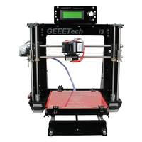 Clear inventory Russia only Geeetech Prusa i3 Pro B Open Source 3D Printer Acrylic Frame High Precision Impressora DIY Kit LCD