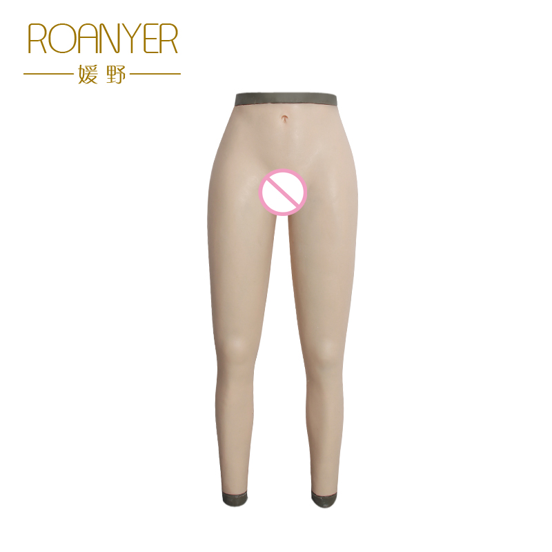 Roanyer crossdresser false pussy silicone fake vagina pants Transgender artificial latex underwear for shemale drag queen