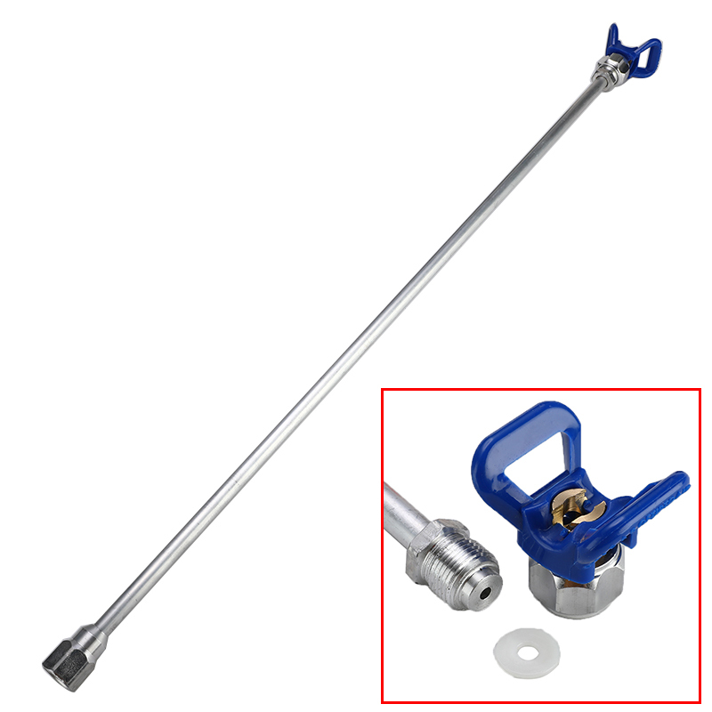 75cm Sprayer Extension Rod Airless Paint Spray Gun Tip Extension Pole Rod Aluminum Alloy Tool For Spraying Machine + Base