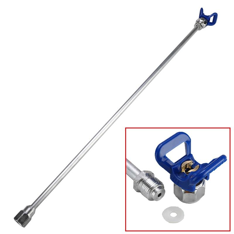75cm Sprayer Extension Rod Airless Paint Spray Gun Tip Extension Pole Rod Aluminum Alloy Tool For Spraying Machine + Base