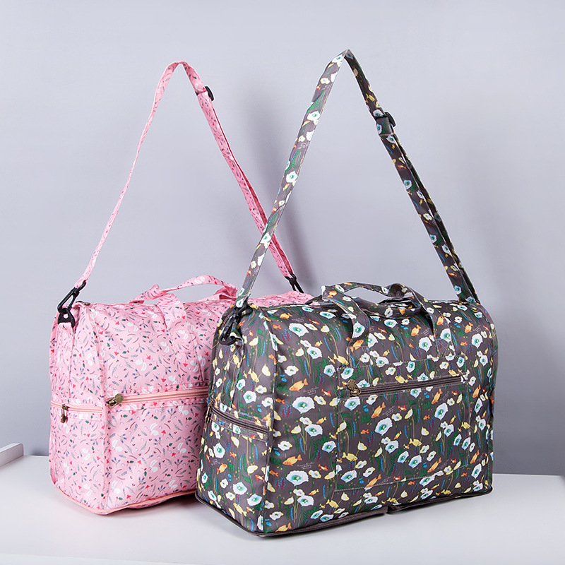 High Quality Nylon Folding Travel Bag Large Capacity Women Duffle Bag Organizer Packing Cubes Luggage Printing Men Weekend Bag