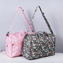 Hohe Qualität Nylon Faltung Reisetasche Große Kapazität Frauen Duffle Tasche Organizer Verpackung Würfel Gepäck Druck Männer Wochenende Tasche