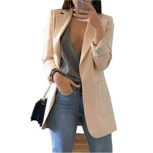 Women Long Sleeve Coat Ladies Business Jacket Suit Blazer