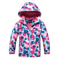 Yeni bahar sonbahar çocuk çocuklar kat ceketler bebek kız dış giyim çift-ördek su geçirmez windproof yüksek kalite büyük kızlar ceketler