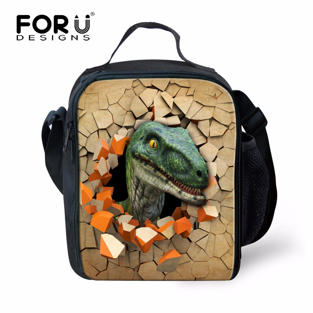 dea5313117af FORUDESIGNS Hot Cool Animal Dinosaur Pattern Lunch Bag for Men Kids  Insulated Lunch Box Thermal Picnic Children Food Bag Bolsa
