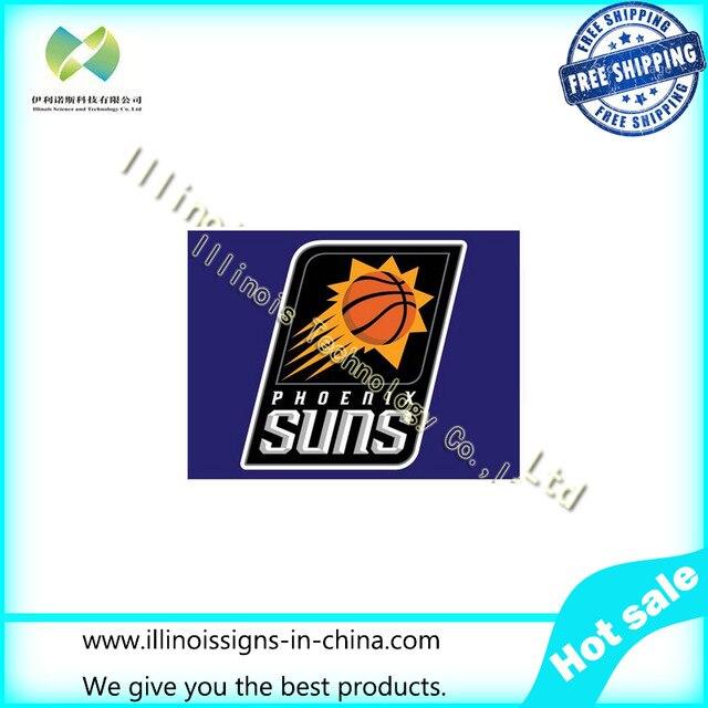 NBA 90X150CM <font><b>Phoenix</b></font> <font><b>Suns</b></font> flag 3ftx5ft <font><b>Banner</b></font> 100D Polyester Flag