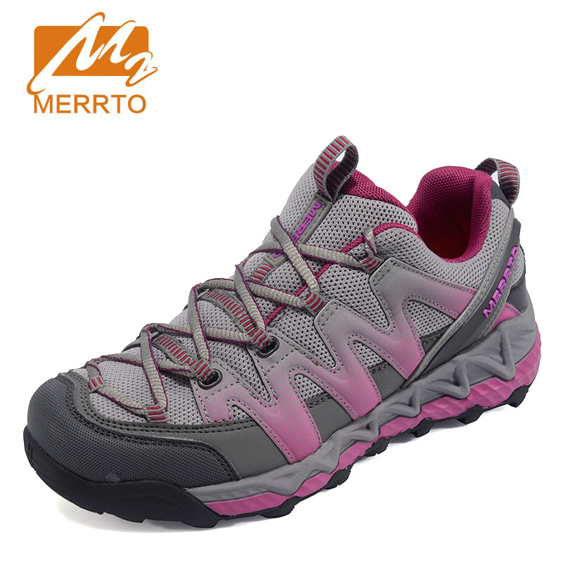 MERROT Women's Breathable Mesh Hiking Shoe  Outdoor Anti-skid sneakers Durable Climbing camping Shoes zapatillas trekking mujer merrto men s outdoor cowhide hiking shoe multi fundtion waterproof anti skid walking sneakers wear resistance sport camping shoe