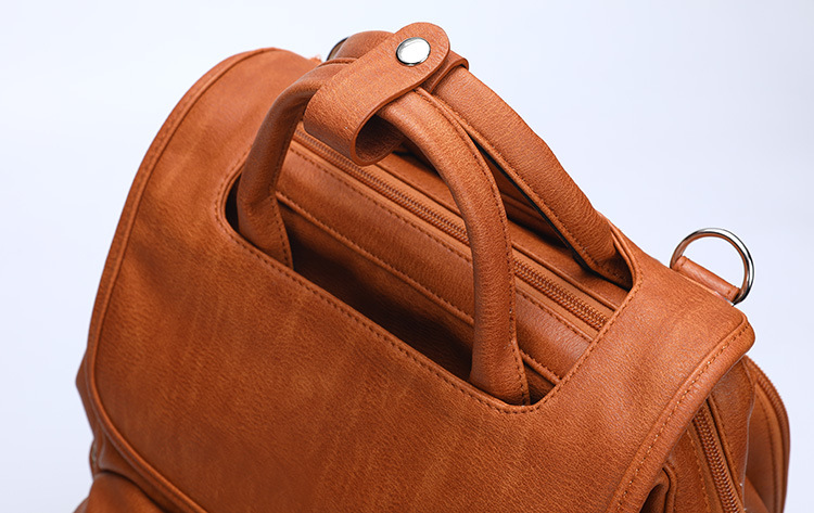 Large PU Leather Diaper Bag