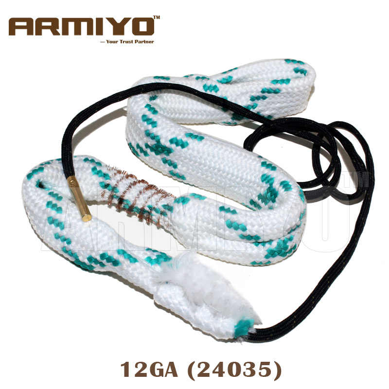 Armiyo 12GA 12 Gauge 18.5mm kaliber Gun Brush Rope Bore Cleaner Barrel Cleaning Sling Kit 24035 akcesoria myśliwskie