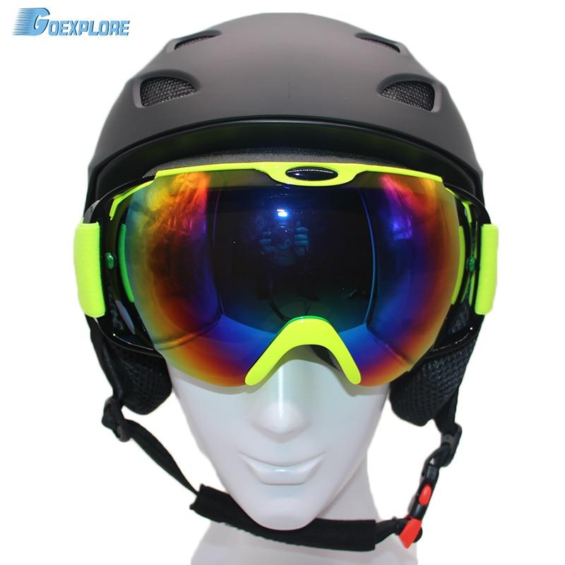 helmet skate winter professional snow ski ultralight eyewear snowboard child female helmets