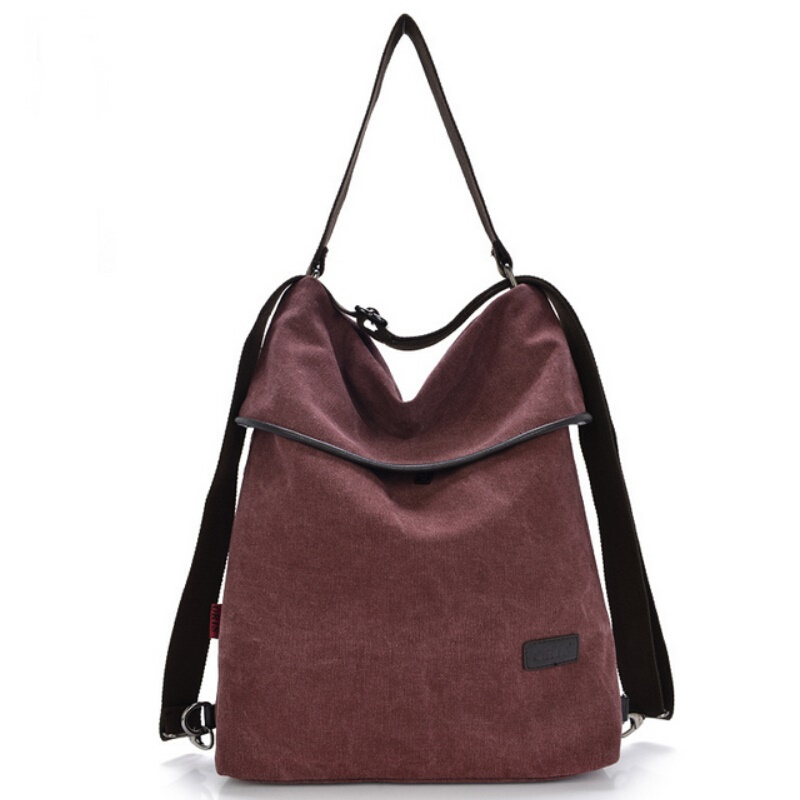 ФОТО Women Canvas Handbags Casual Tote Bag Shoulder Crossbody Bags For Women Multifunctional Back Pack Ladies Hand Bags Bolsos Mujer