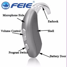 newest feie best selling MY-22 answer telephone aparato para sordos dhl bte digital ear hearing amplifier free shipping