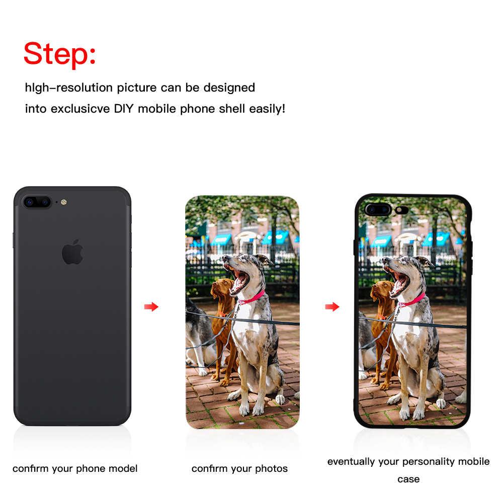 Personalizado DIY impreso suave funda de teléfono para Samsung S10 S9 Plus para huawei P10 P20 para iphone XS Max funda de foto hecha a medida