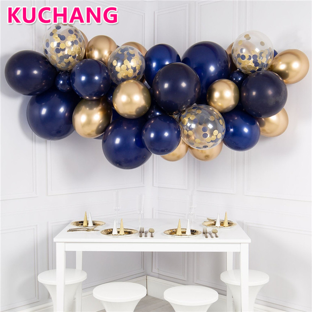 NEW 10PCS 12inch Pearl Luminous Blue Navy Luxury Latex Balloons High Quality DIY Home Party