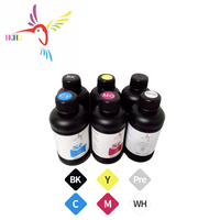 6X500ML Hard LED UV Ink For Epson DX2 DX3 DX4 DX5 DX6 DX7 DX10 printhead of Flat table UV Printer Ink