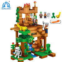 410pcs Mine Craft Compatible legoING Blocks Camilla Village Building Blocks Sets Assembling Bricks Toys For Boys Girls Gifts