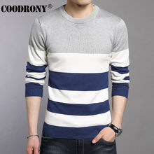2016 Autumn Winter New Young Dress Striped O-Neck Sweater Men Brand Knitted Cashmere Pullover Men Wool Sweaters Pull Homme 66209