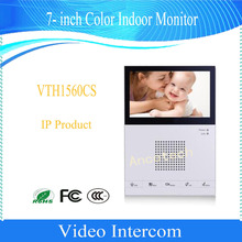 Free Shipping DAHUA Video Intercom 7- inch Color Indoor Monitor IP Product without Logo VTH1560CS