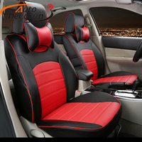 AutoDecorun Custom covers seat PU leather for Toyota Corolla accessories car seat covers cushion seat supports auto protectors