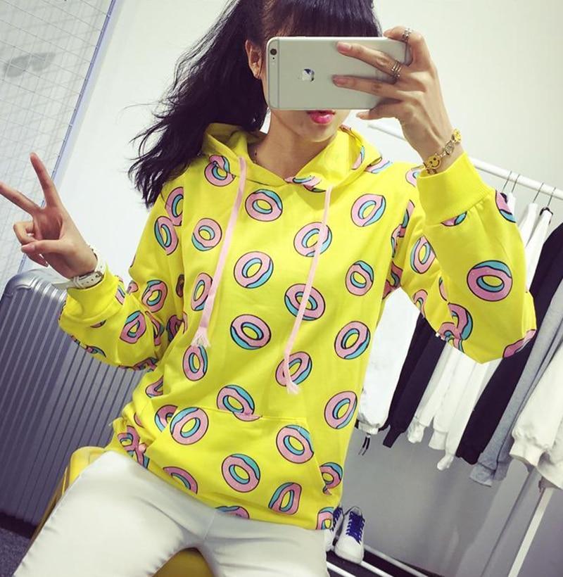 Kpop GOT7 Just Right Mark Jung Kook Donut Unisex Hoodies Sweatshirt Spring/Autumn Casual Top Streetwear