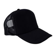 Black Baseball Caps Unisex Simple Casual Trucker Hats Snapback Sports Mesh Sun Hat Dad Summer Adjusetable
