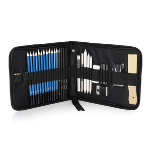 Image 5 - 32/40 Pieces Professional Sketching Drawing Tool Kit with Graphite/Pastel Pencils,Paper Erasable Pen, Zippered Carry Case