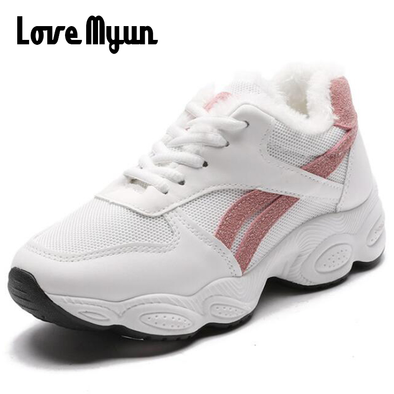 Automne A Au Tenis Chaud Fura With Chaussures Blackwhitewith Fourrure whitepink white whiteblack 2019 Avec Coréenne Garder Hiver Mode Femelle D'hiver Feminino Fur 95 Femmes Sneakers Bule forme Pink Furb white Fura Furb Casual Uu Plate Black No FTSq5OwT7