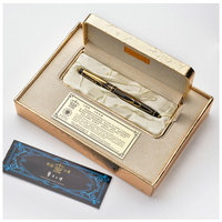 Zwarte Goud Clip Rollerball Duke Zwarte Inkt Medium Refill Goede schrijven Balpen Luxe Relatiegeschenk Pennen met Een Pen Box