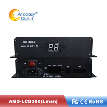 facrtory price full color outdoor fixed led display LED control panel AMS-LCB300 linsn external sending box support ts802d image