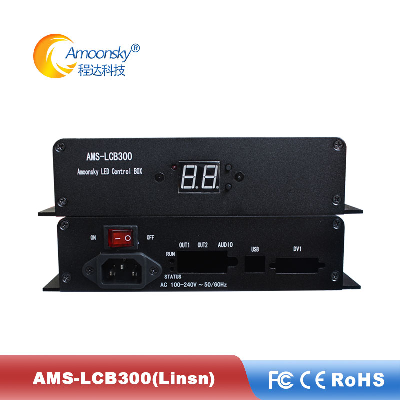 Linsn Sender Box Support Linsn Ts802d AMS-LCB300 Sending Box For Ts802d Sending Card