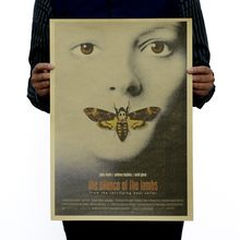 Silence of the Lambs posters nostalgic retro classic decorative painting core kraft paper poster 51x35cm Vintage greeting card(China)