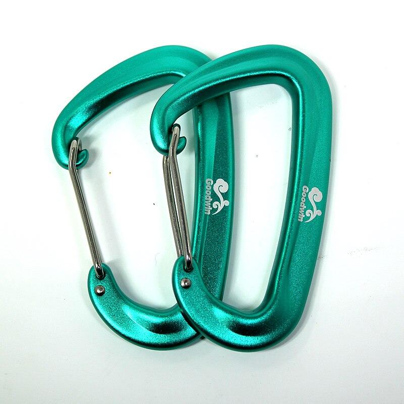 Aluminum Hammock Buckle Carabiner Magnesium Alloy Quick Hanging Belts Hook Clasp Camping Equipment