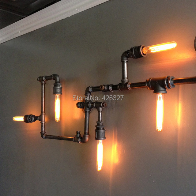 Retro nostalgia and creative lighting industrial plumbing fixtures ...