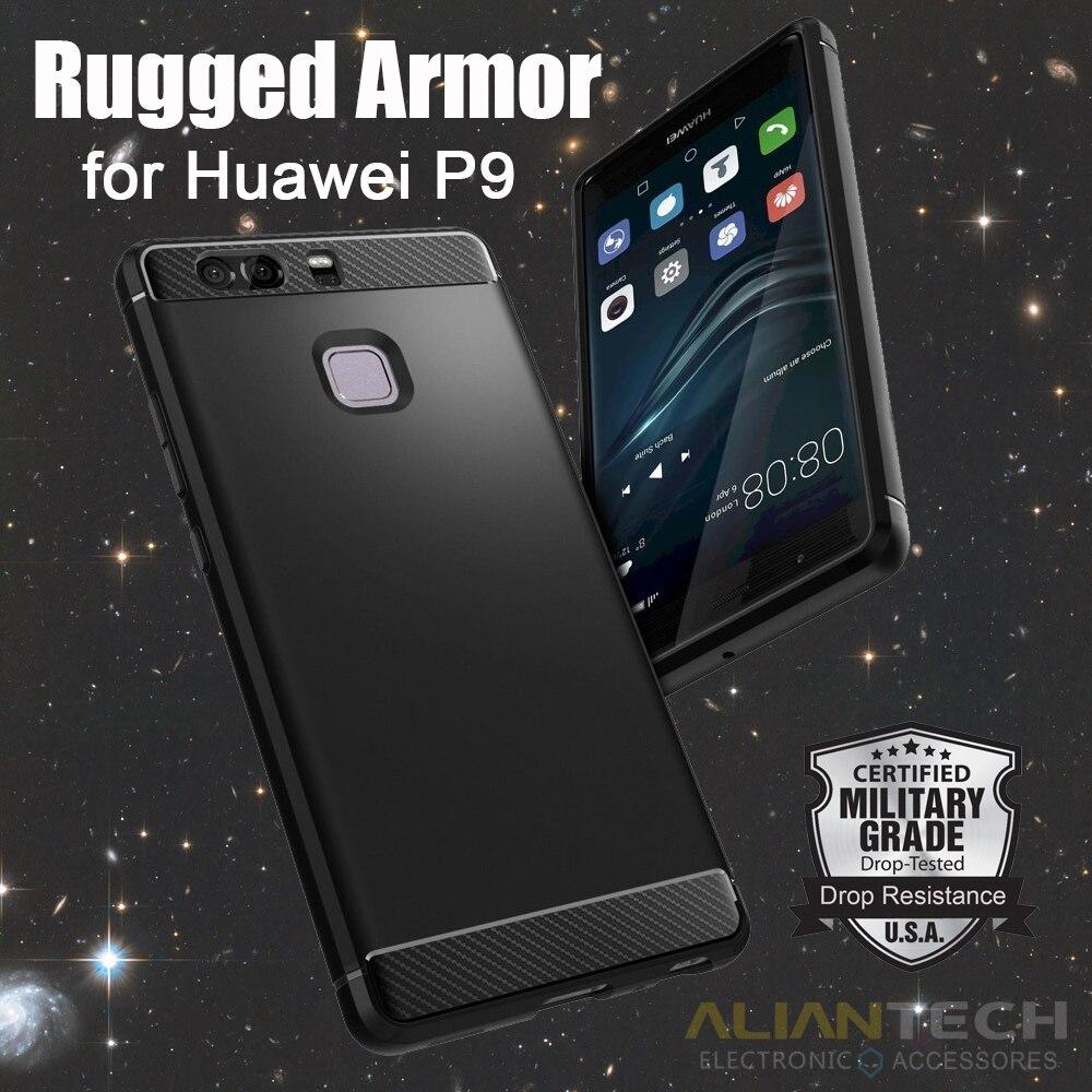 imágenes para Huawei Aliantech P9 Prima Soft TPU Caja de la Armadura Resistente Resistencia A Caídas de Protección Cajas Del Teléfono de Huawei P9