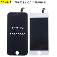 10Pcs shenchao quality For iPhone 6 6G LCD screen , display with Touch Digitizer assemble for iphone replacement parts