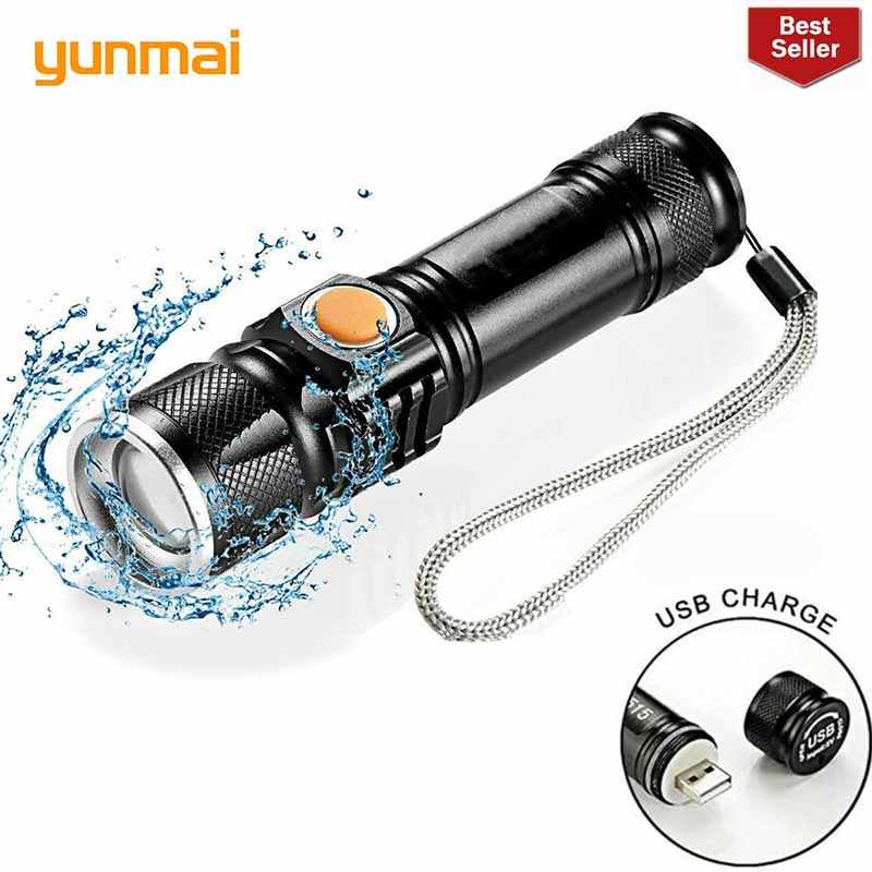 new 2019 USB Rechargeable Work Inspection Light Magnetic LED Flashlight 4 Modes Torch Lanterna Lampe Touche Linternas Led Lamp