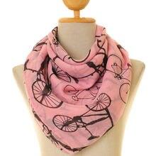 Bufanda antigua Vintage para bicicleta, accesorios de color rosa para mujer, regalo de invierno y otoño, 10 unids/lote envío gratis