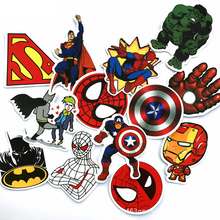 50 pics Superhero Label Stickers Home Decor Car Styling Decoration Wall Sticker Skateboard Laptop Bicycle Decals pics