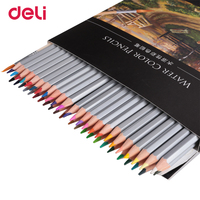 Deli High Quality 24 36 48 Colors Professional Watercolor Pencil Set For Drawing School Art Supply