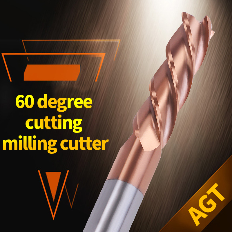 4mm 6mm 8mm 10mm Cutting HRC60 4 Flute CNC Machine Tools End Mill Tungsten Steel Milling Cutters Aluminium Copper Metal