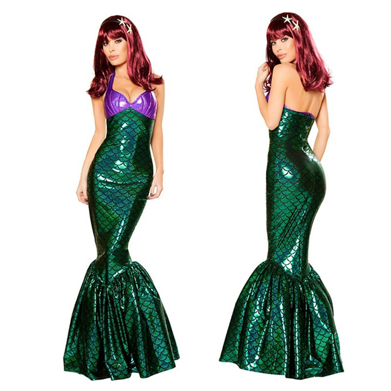 Anime Sexy Little Mermaid Ariel Princess Costumes Adults Women Halloween Little Mermaid Ariel Cosplay Dress Up Fancy Dress