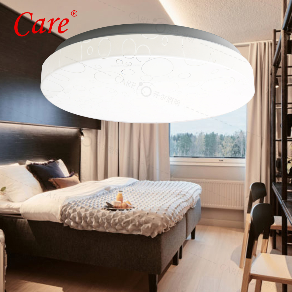 Care LED Ceiling Lamp 15W/18W/24W Ceiling Lights For Living Room Ceiling Light Modern Luminaires Lamp Ceiling Living Room Lights new safurance 15w led infrared pir sensor ceiling mount lamp light ac110 265v for room building automation home security