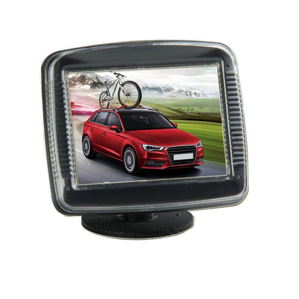 3.5 Inch Black Desktop Car Monitor + Rear View Surveillance Camera Set LCD Display Reversing Video DVD TV Screen LCD Screen