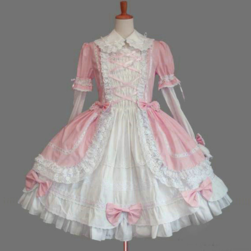 Personnalisé 2018 classique coton doux Lolita robe de princesse avec amovible pour fille 10 couleurs livraison directe