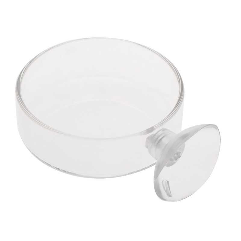 Podajnik akwarium krewetka szklana miska dla zwierząt jasne taca na naczynia